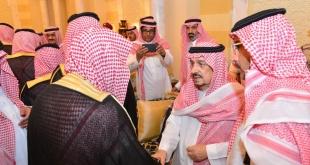 أبناء الأمير بندر بن عبدالعزيز يستقبلون المعزين