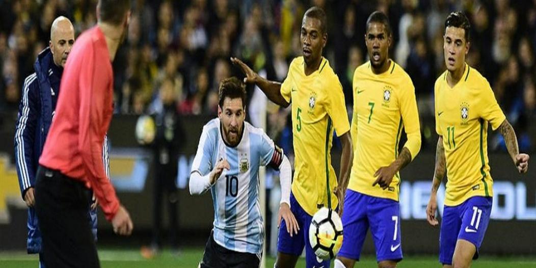 موعد مباراة البرازيل ضد الأرجنتين
