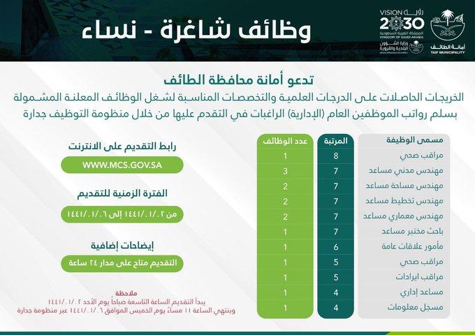 16 وظيفة شاغرة للنساء في أمانة الطائف - المواطن