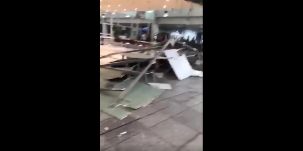 فيديو.. سقوط جزء محدود من سقف مطار الملك عبدالعزيز