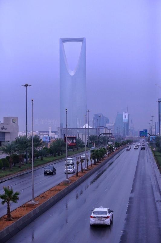 أمطار ورياح تحد الرؤية على الرياض