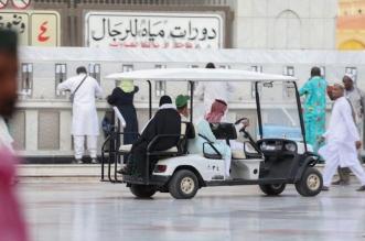 رئاسة المسجد النبوي تسخر خدماتها لنقل الحجاج والزوار في ساحات المسجد النبوي 1