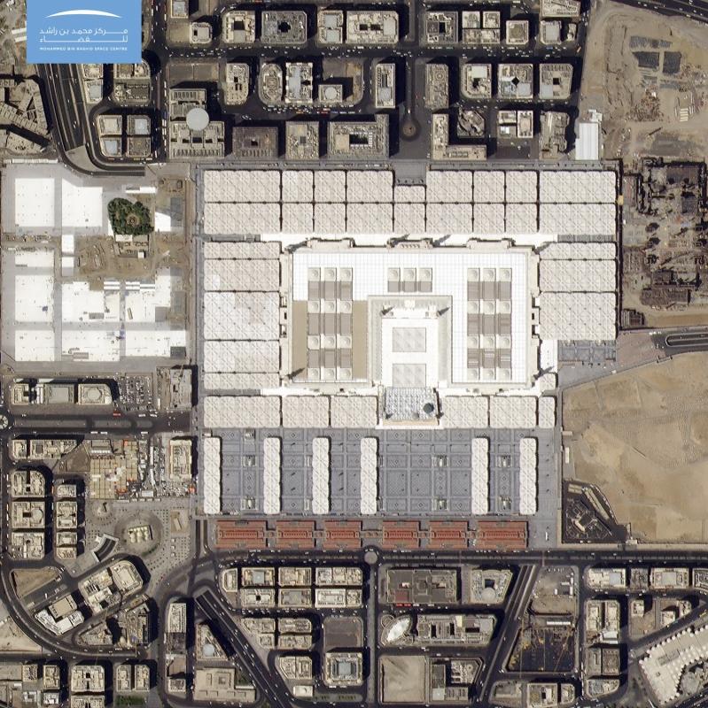 صورة فضائية دقيقة للمسجد النبوي بمناسبة العام الهجري