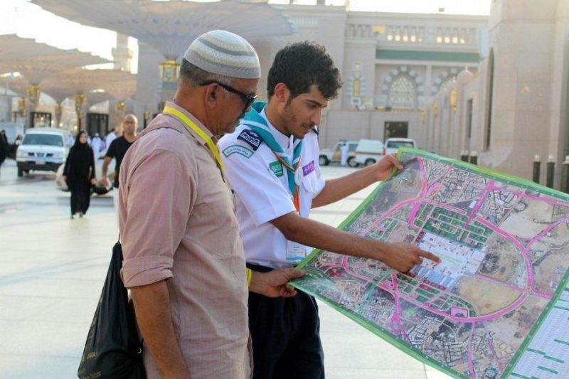 كشافة المدينة تصدر خرائط رقمية لإرشاد ضيوف الرحمن 1