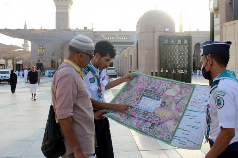كشافة المدينة تصدر خرائط رقمية لإرشاد ضيوف الرحمن 3