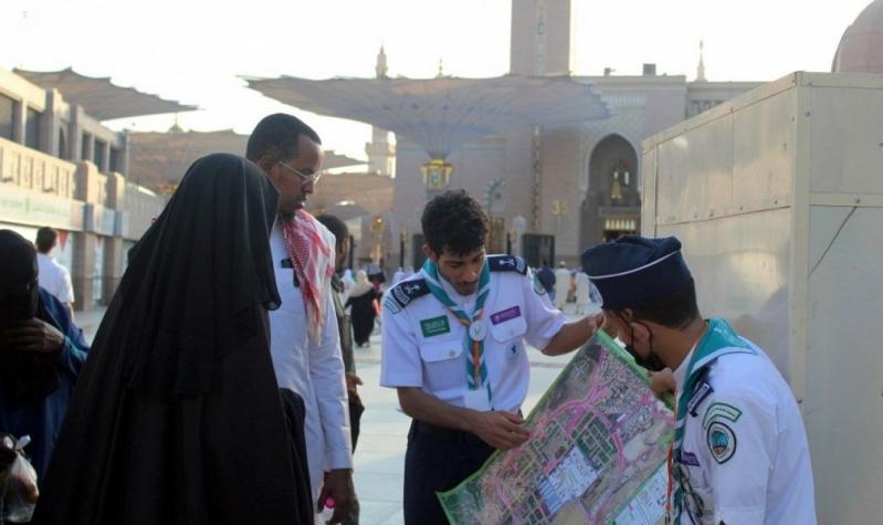 كشافة المدينة تصدر خرائط رقمية لإرشاد ضيوف الرحمن
