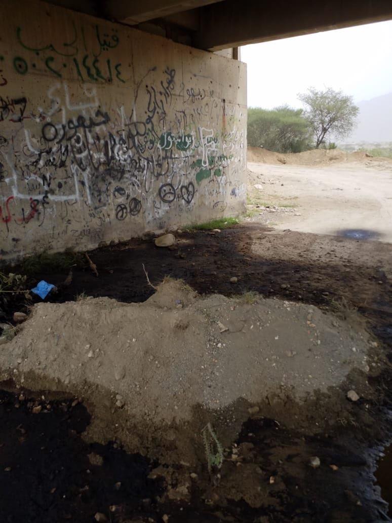 صور .. فريق بيئي يباشر حادث انقلاب ناقلة بترول بارق - المواطن