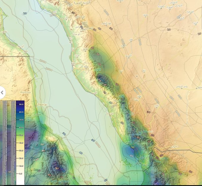انخفاض درجة الحرارة وأمطار رعدية خلال أغسطس