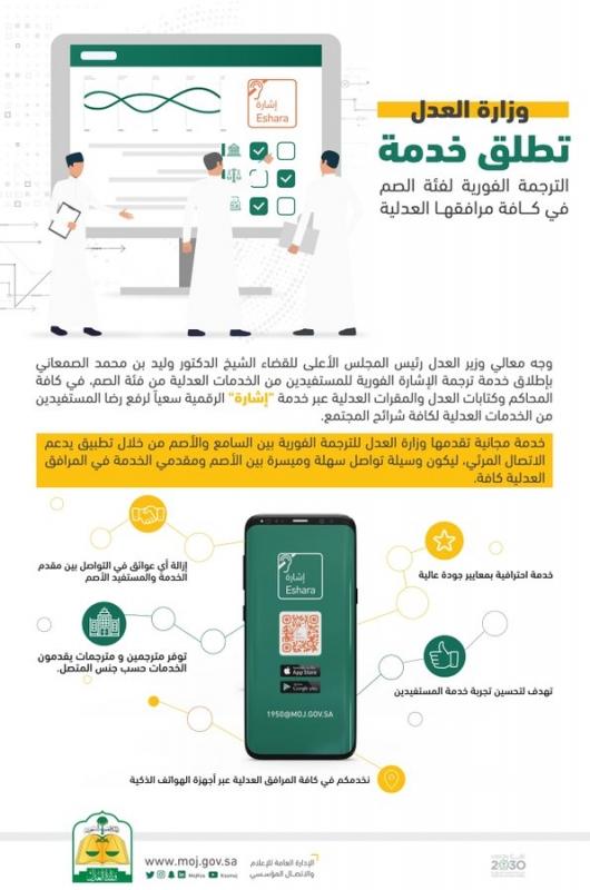 وزارة العدل تطلق خدمة الترجمة الفورية لفئة الصم - المواطن