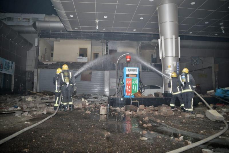 إصابة عامل في حريق محطة بحي المطار في حائل - المواطن