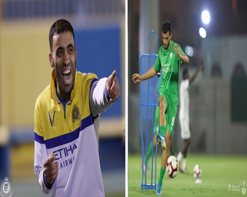 صراع خاص بين حمدالله والسومة في مباراة النصر والأهلي