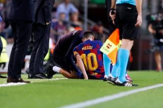 تفاصيل إصابة ميسي في مباراة برشلونة ضد فياريال - المواطن