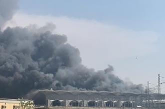 حريق قطار الحرمين جدة