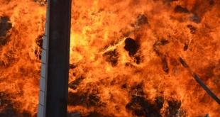 حريق في أحد مستودعات مكة والمدني يباشر