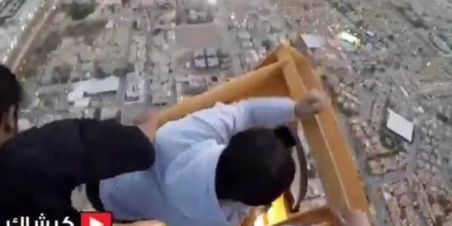 أول تصريح من متسلق رافعة الرياض: تحديت خوفي