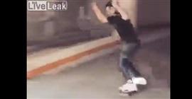فيديو.. حاول استعراض مهارته فسقط بشكل مروع!