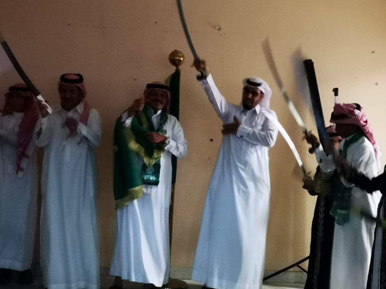 فيديو وصور.. ابتدائية بلاط الشهداء تحتفي بعرس الوطن بالعرضة والشيلات الوطنية - المواطن