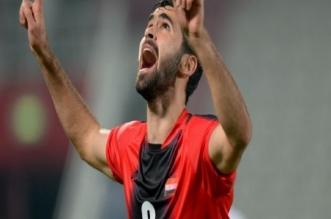 عمر خربين لاعب منتخب سوريا