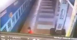 فيديو.. شرطي ينقذ رجلًا من الموت بعد سقوطه من القطار - المواطن