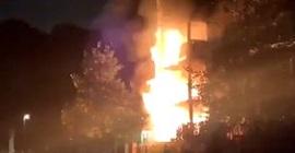 فيديو.. حريق يلتهم مبنى من 5 طوابق في لندن - المواطن