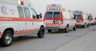 إصابة شخص في حادث على طريق الملك سعود بسكاكا