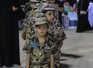 مسيرة للأطفال بالزي العسكري ومسابقات و300 هدية باحتفالات بارق - المواطن