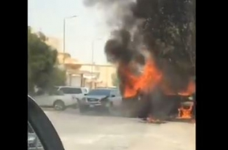 شاهد.. قائد جمس أكاديا الشجاع يصدم سيارة مشتعلة تفاديًا لكارثة - المواطن