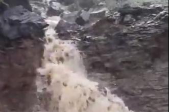 شاهد.. تدفق المياه من شلالات قنا بعد أمطار غزيرة - المواطن