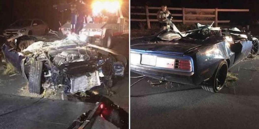 صور.. إصابة كيفن هارت خطيرة وسيارته تفحمت