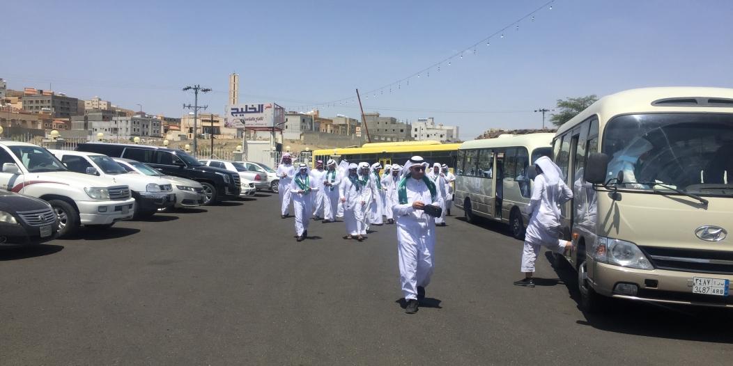 مسيرة تجمع أهالي أحد رفيدة وزوارها