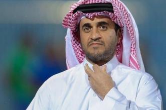 خالد البلطان يُتابع مباراة لنادي الشباب