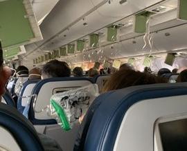 فيديو وصور.. لحظات الرعب داخل طائرة على ارتفاع 11800 متر - المواطن