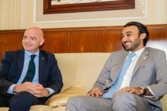 عبدالعزيز الفيصل يلتقي إنفانتينو على هامش حفل جوائز الفيفا - المواطن
