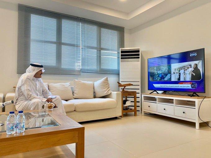 سلطان بن سلمان يشاهد رحلة انطلاق المنصوري لمحطة الفضاء الدولية