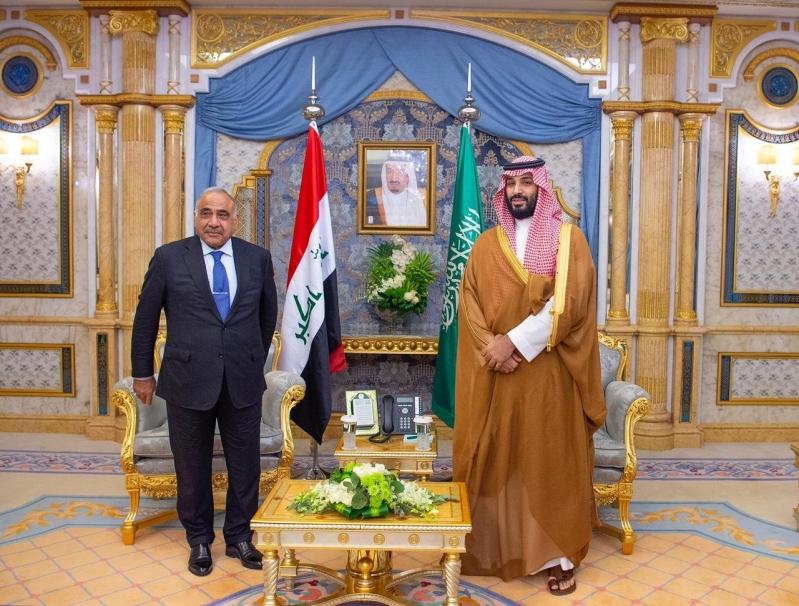 الأمير محمد بن سلمان يجتمع برئيس الوزراء العراقي