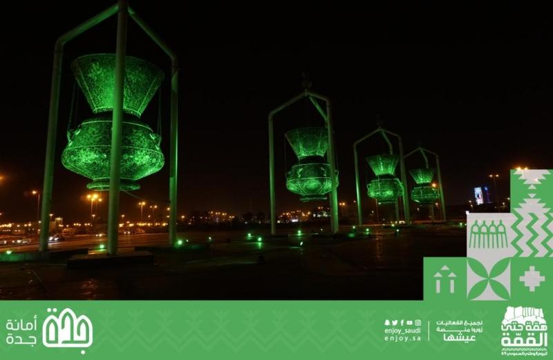 3 آلاف علم وجرافيتي في جدة - المواطن