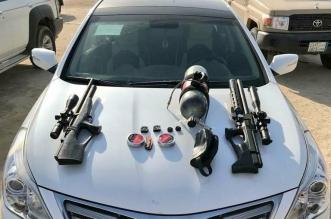 صور.. الحياة الفطرية تضبط أسلحة وأجهزة محظورة بمكة والشرقية - المواطن