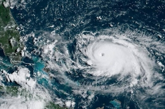 hurricane dorian is seen from the national oceanic and atmospheric administration noaas goes east satellite over the atlantic ocean august 31 2019 reuters