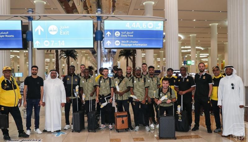 صور.. #الاتحاد يصل إلى دبي