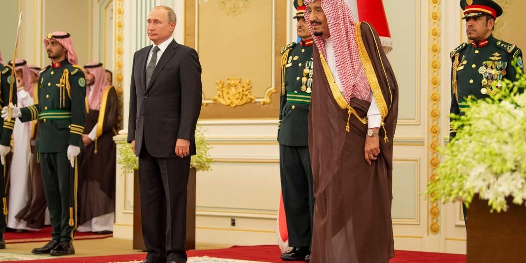 فيديو.. معزوفة أنت ملك تستقبل الملك سلمان والرئيس بوتين