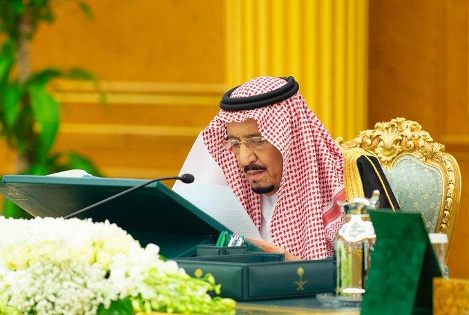 لقطات من جلسة مجلس الوزراء الأولى بحضور الفرحان والجاسر