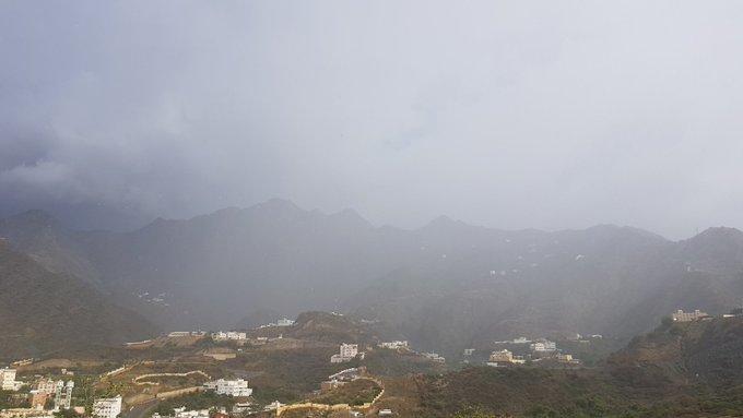 تجدد الأمطار على رجال ألمع