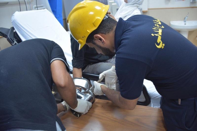 تحرير يد يمني من فرامة في جدة