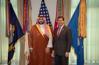 خالد بن سلمان يناقش التحديات المشتركة مع وزير الدفاع الأمريكي - المواطن