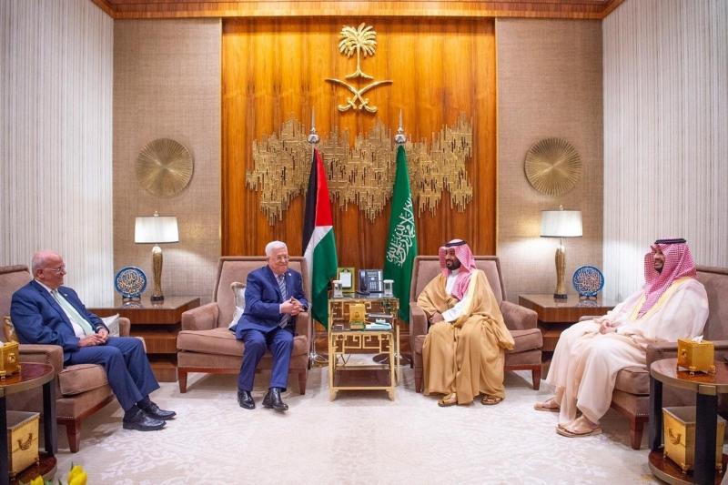 محمد بن سلمان يتفق مع الرئيس الفلسطيني على إنشاء لجنة اقتصادية مشتركة - المواطن