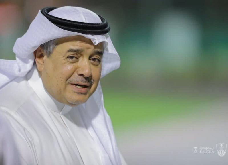 الأمير منصور بن مشعل في تدريبات الأهلي