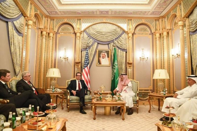 وزير المالية يناقش تطورات الاقتصاد السعودي مع وزير الخزانة الأمريكي