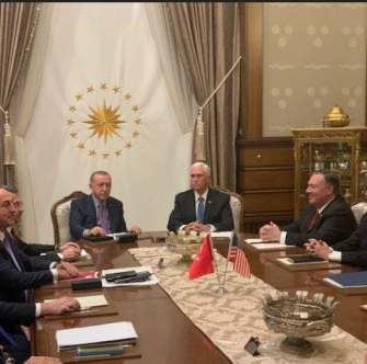 أردوغان يخضع لترامب.. الاتفاق على وقف إطلاق النار في سوريا