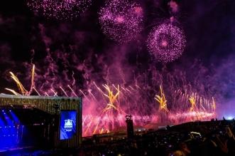 شاهد بالصور.. لقطات من إطلاق الألعاب النارية في موسم الرياض - المواطن