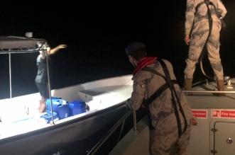 حرس الحدود ينقذ بحرينيين تعطل قاربهما بعرض البحر برأس تنورة - المواطن